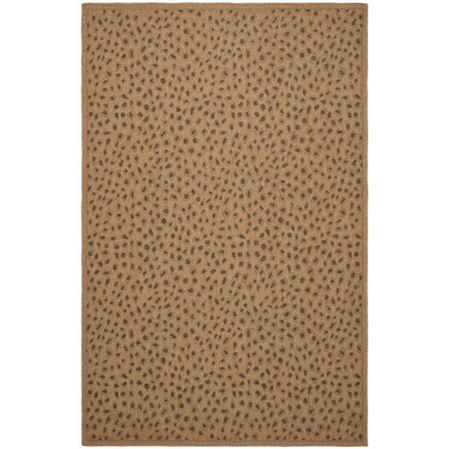 Safavieh Courtyard Natural/ Leopard Print Indoor/ Outdoor Rug - 9' x 12'