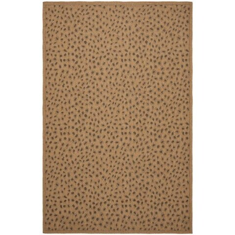 Safavieh Courtyard Natural/ Leopard Print Indoor/ Outdoor Rug - 9' x 12'