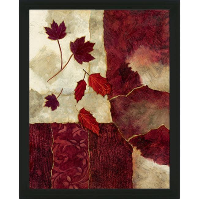 Norm Olson 'Cranberry Fall II' Framed Art Print