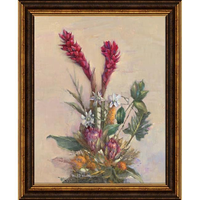 Paul Mathenia 'Tropical Floral' Embellished Framed Art Print