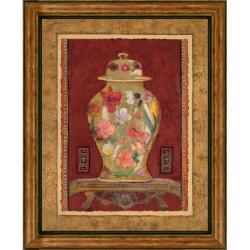 Charlene Olson 'Romantic Urn I' Embellished Framed Art Print