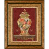 Charlene Olson 'Romantic Urn II' Embellished Framed Art Print