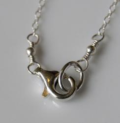 AEB Design Hammered Sterling Silver Medium Ring Pendant Necklace