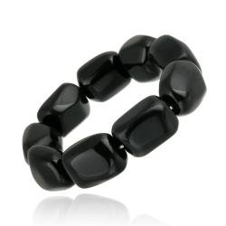 Glitzy Rocks Onyx Stretch Bracelet