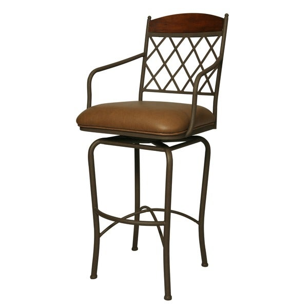 Shop Napa Ridge 30 Inch Swivel Bar Stool Free Shipping