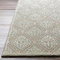 Hand-tufted Divine Grey Geometric Wool Area Rug - 5' x 8'
