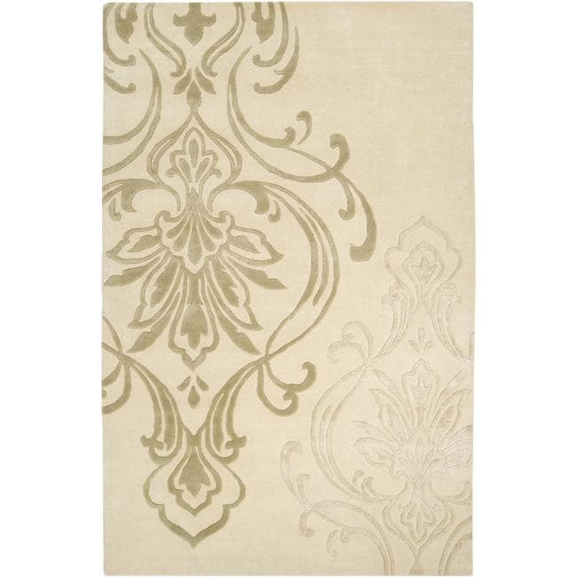 Shop Hand Tufted Divine Beige Wool Area Rug 5 X 8