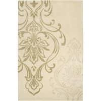Silver Orchid Granada Hand-tufted Beige Wool Area Rug - 5' x 8'