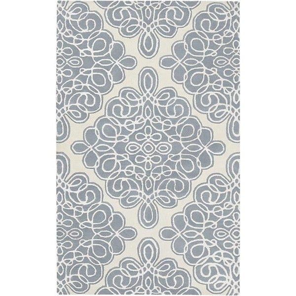 Hand-tufted Divine Cream Geometric Pattern Wool Area Rug - 5' x 8'