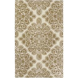 Hand-tufted Divine Off White Geometric Pattern Wool Area Rug - 5' x 8' - Thumbnail 0