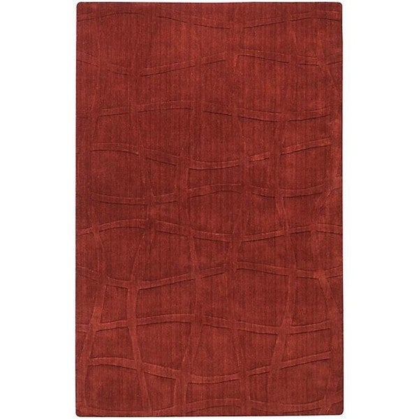 Candice Olson Loomed Carved Brick Abstract Plush Wool Rug (3'3 x 5'3)