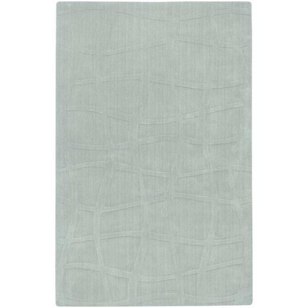 Candice Olson Loomed Carved Light Blue Abstract Plush Wool Rug (8' x 11')