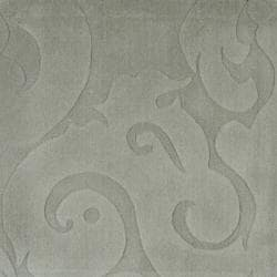 Candice Olson Loomed Silver Sage Damask Pattern Wool Rug (9' x 13')