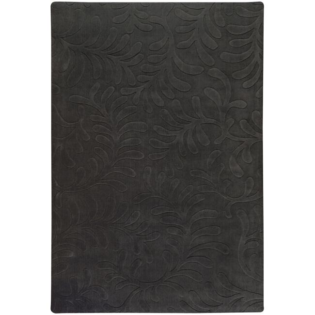 Candice Olson Loomed Black Floral Plush Wool Rug (8' X 11')