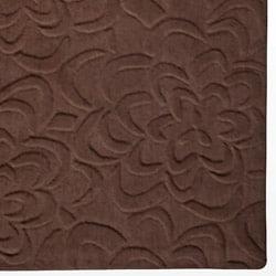 Candice Olson Loomed Chocolate Floral Plush Wool Rug (8' x 11') - Thumbnail 1