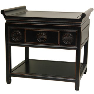 Handmade Rosewood 22-inch Antique Black Altar Table (China)