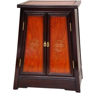 Handmade Rosewood Two-tone Long Life Cabinet (China)