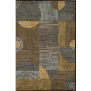 Illusion Power-loomed Blue Rug (3'11 x 5'7)