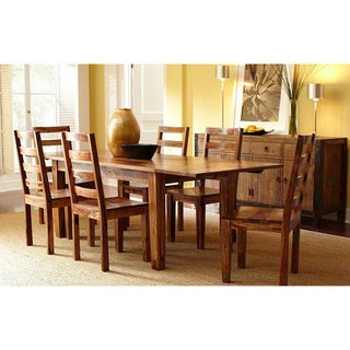 Alicia Wood 92-inch Extending Dining Table by Kosas Home