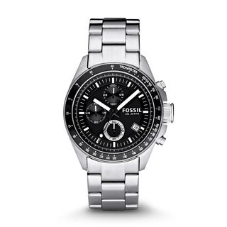 Fossil Men's CH2600 Decker Stainless Steel Black Chronograph Dial Watch