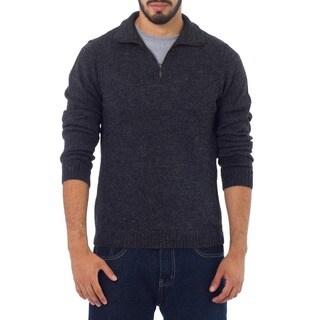 100-percent Alpaca Wool Charcoal Casual Gray Collared Long Sleeve Quarter-zip Mens Pullover Sweater (Peru)|https://ak1.ostkcdn.com/images/products/5716052/P13453165.jpg?_ostk_perf_=percv&impolicy=medium