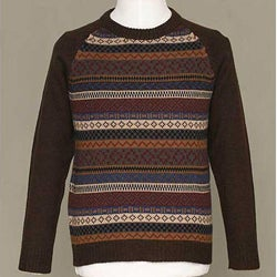 Alpaca Wool Men's 'Horizon' Crewneck Sweater (Peru)