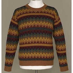 Handmade Alpaca Wool Men's 'Mountaineer' Crewneck Sweater (Peru)