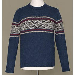Handmade Alpaca Wool Men's 'Blue Mountains' Crewneck Sweater (Peru) https://ak1.ostkcdn.com/images/products/5716074/Alpaca-Wool-Mens-Blue-Mountains-Crewneck-Sweater-Peru-P13453185a.jpg?impolicy=medium