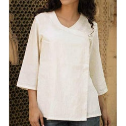 Cotton 'Desert Hero' Wrap Blouse (India)