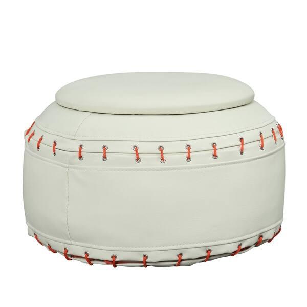 Fantastic Shop Baseball Swivel Chair W Ottoman Free Shipping Today Lamtechconsult Wood Chair Design Ideas Lamtechconsultcom