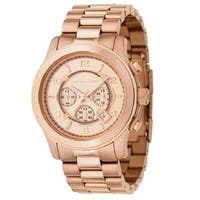 Michael Kors Men's MK8096 'Runway' Rose Gold-Tone Watch