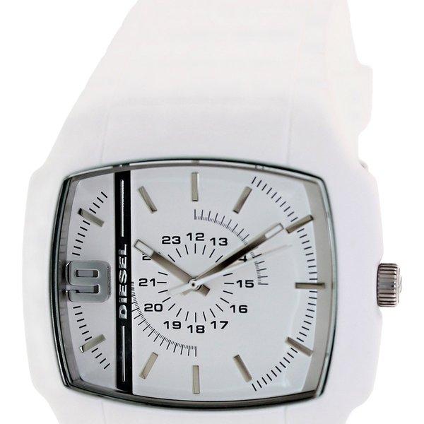 Diesel Men's Stainless Steel Case White Silicon Strap Watch