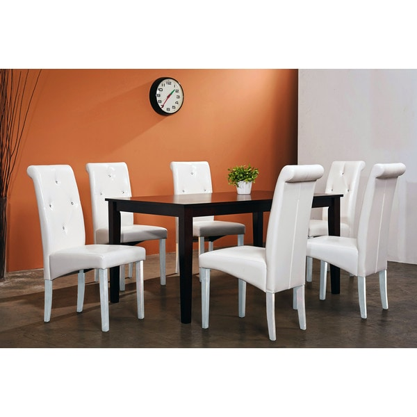 Warehouse of Tiffany 7-piece White Dining Room Set