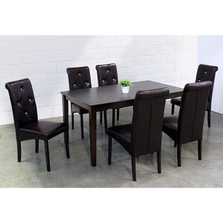 Warehouse of Tiffany 7-piece Brown Dining Furniture Set