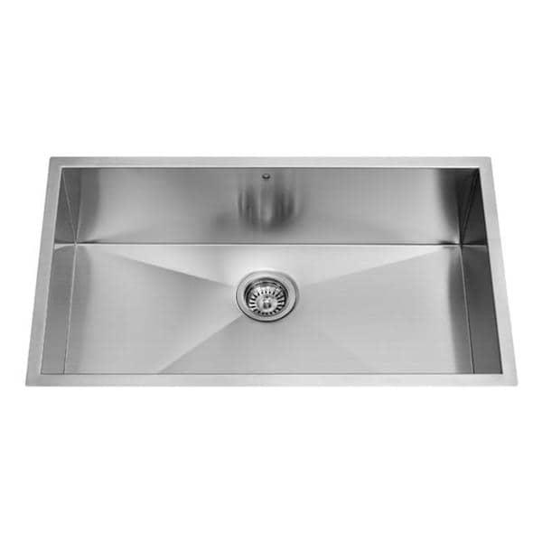 30-inch Undermount Stainless Steel 16 Gauge Single Bowl Kitchen Sink