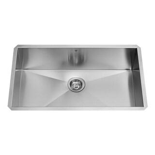 VIGO 30-inch Undermount Stainless Steel 16 Gauge Single Bowl Kitchen Sink
