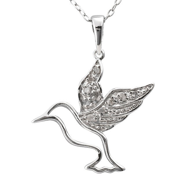 jewelry products bird hummingbird nanostyle pendant sterling ps necklace silver turquoise handcrafted phbs