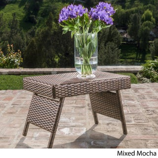 Adjustable Wicker Folding Table by Christopher Knight Home