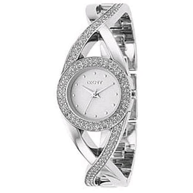 DKNY Women's Stainless Steel Crystal-accented Watch