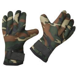 South Bend Camouflage Waterproof Fleece-lined Neoprene Fishing Gloves