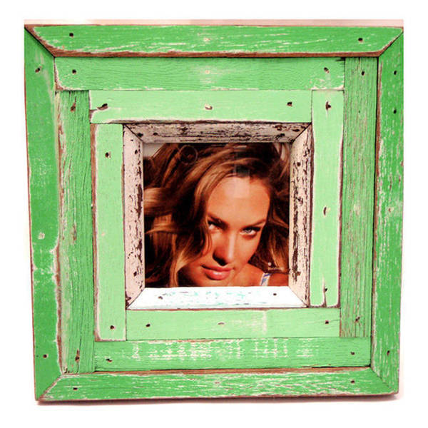 Handmade Recycled Boat Wood Coastal Picture Frame (Thailand)