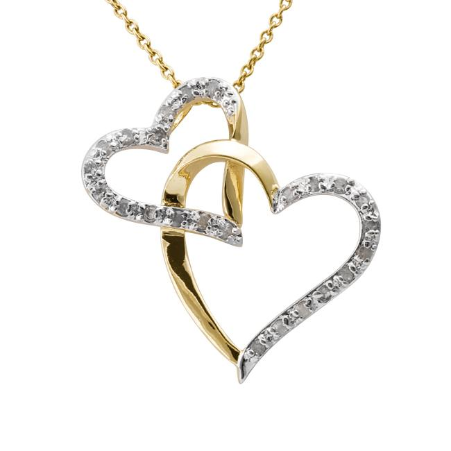 detail necklace gold pendants p asp double silver heart pendant sterling plate with