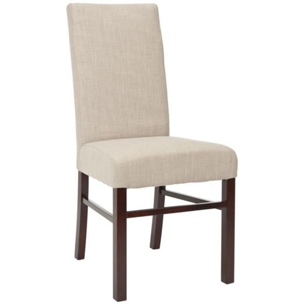 Safavieh Parsons Dining Parsons Beige Cotton Side Chairs (Pack of 2)