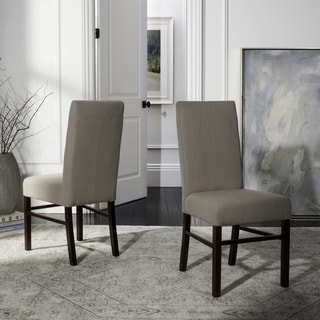 Safavieh Parsons Dining Parsons Beige Cotton Dining Chairs (Pack of 2)