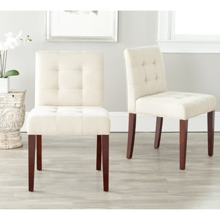 Safavieh En Vogue Dining Chic Cream Tufted Cotton Side Chairs (Set of 2)