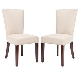Safavieh Elegance Beige Linen Dining Chairs (Set of 2)