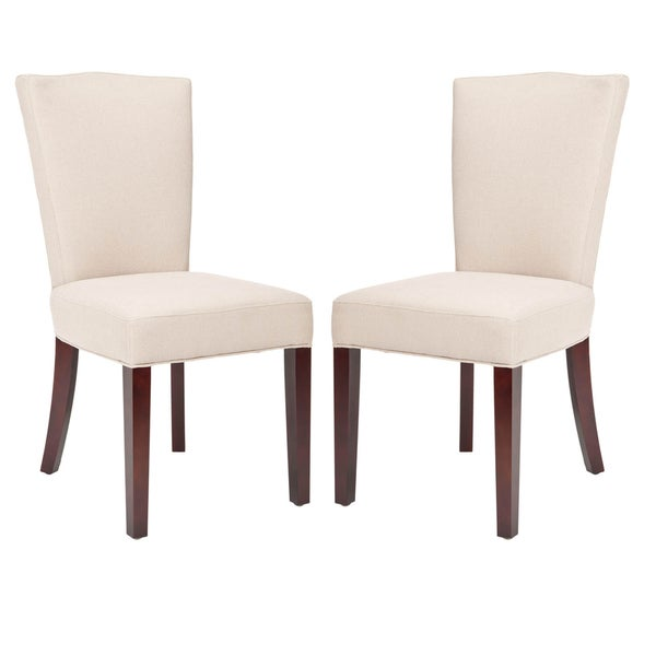 Safavieh Elegance Beige Linen Dining Chairs (Set of 2)