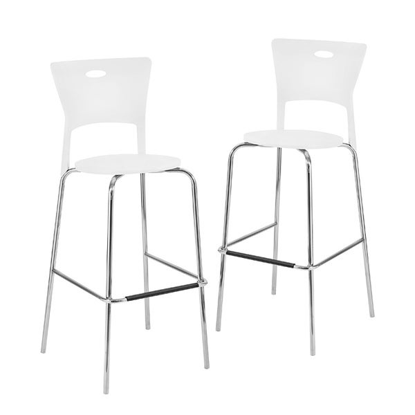 white stackable modern barstools pack of 2 free