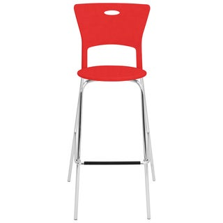 Red Stackable Modern Barstools (Pack of 2)