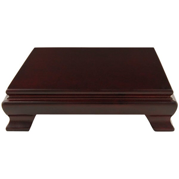 Handmade Rosewood 7-inch Square Base Stand (China)